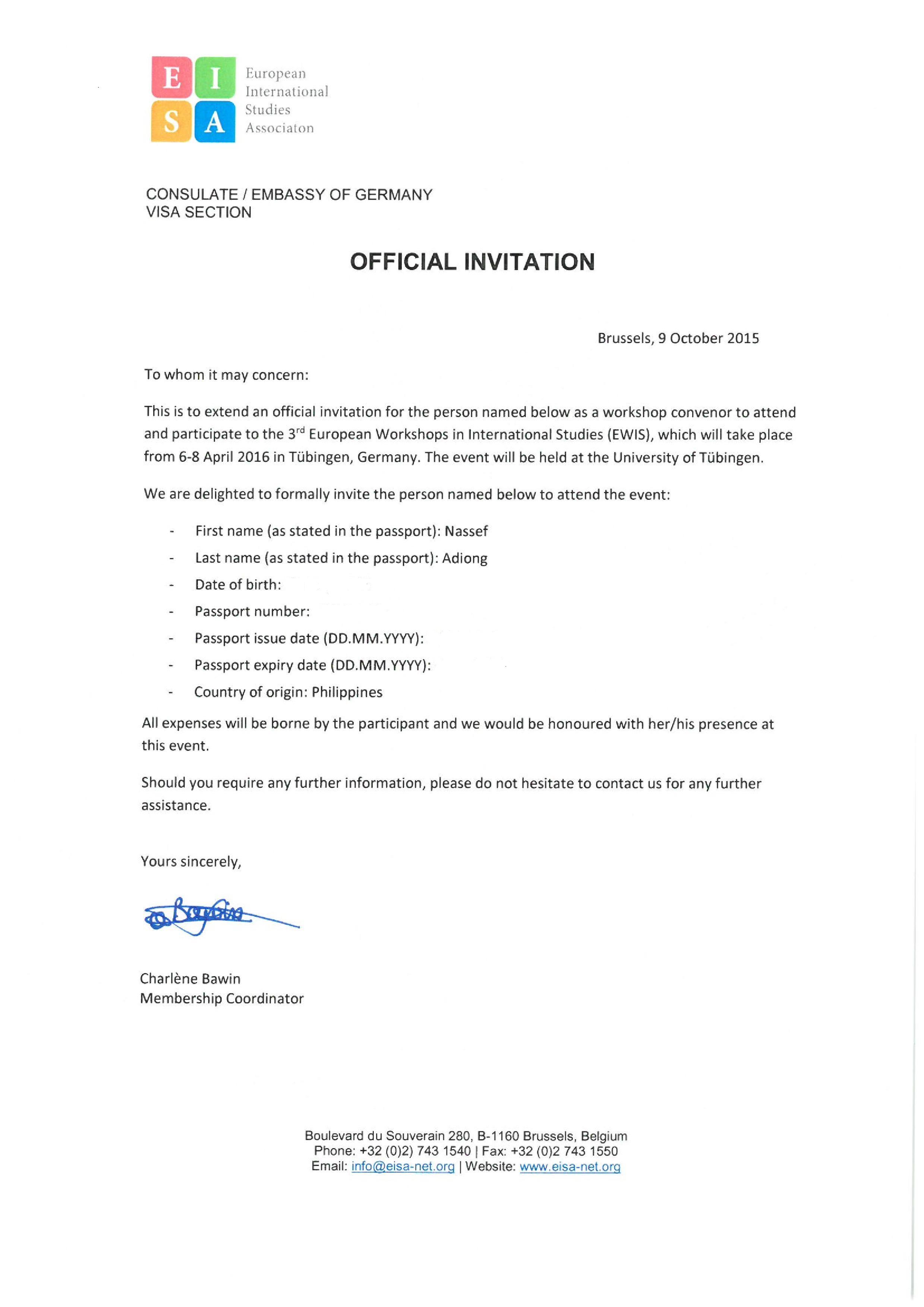 Convener Nassef Manabilang Adiong PhD – Country of Origin Letter