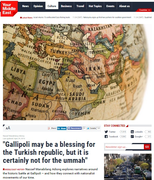 Gallipoli may be a blessing for the Turkish republic, but it is certainly not for the ummah