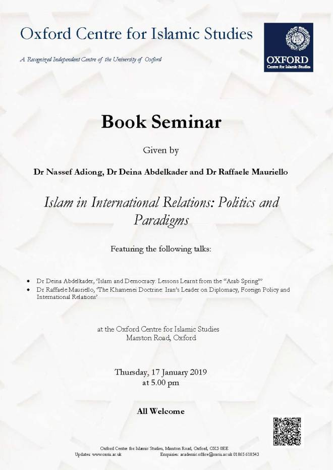 Islam in International Relations -Book Seminar
