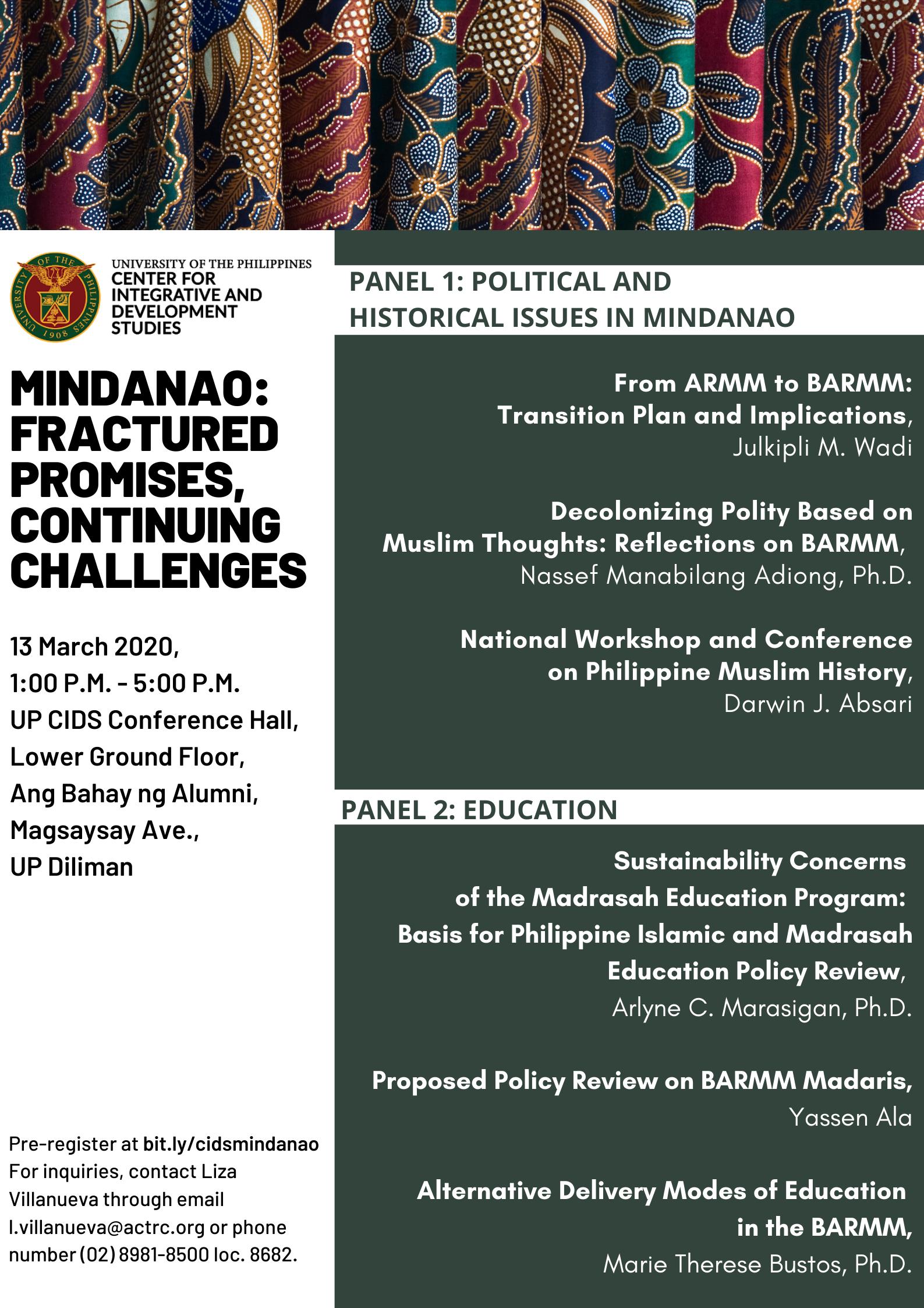 UP CIDS Mindanao Forum Day 2