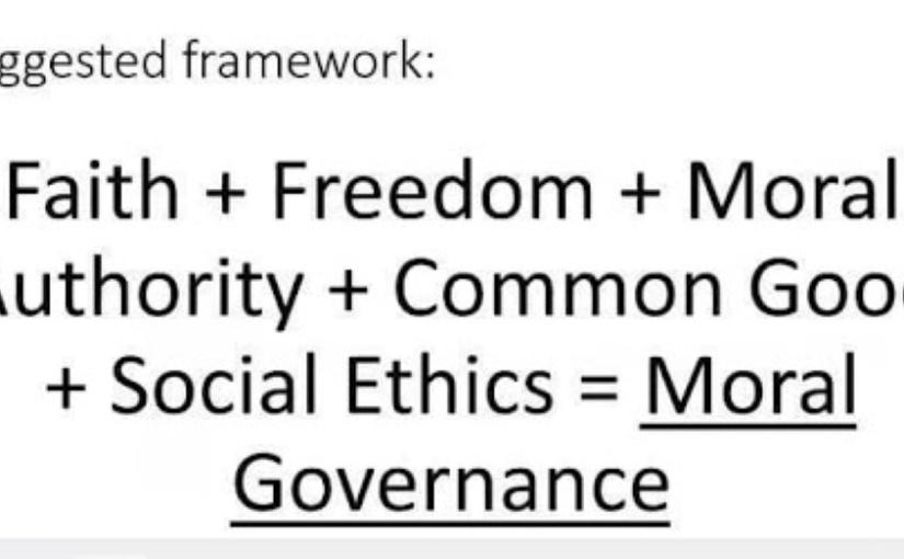 Moral Governance presentation at DAP Graduate School of Public and DevelopmentManagement
